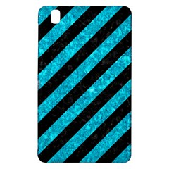 Stripes3 Black Marble & Turquoise Marble Samsung Galaxy Tab Pro 8 4 Hardshell Case by trendistuff