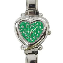 Pig Face Heart Italian Charm Watch by Jojostore