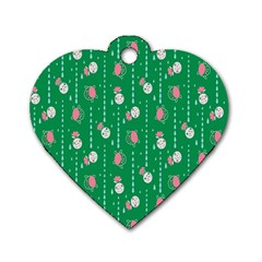 Pig Face Dog Tag Heart (two Sides) by Jojostore