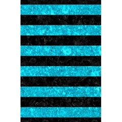 Stripes2 Black Marble & Turquoise Marble 5 5  X 8 5  Notebook by trendistuff