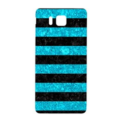 Stripes2 Black Marble & Turquoise Marble Samsung Galaxy Alpha Hardshell Back Case by trendistuff