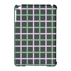 Pink And Green Tiles On Dark Green Apple Ipad Mini Hardshell Case (compatible With Smart Cover) by Jojostore