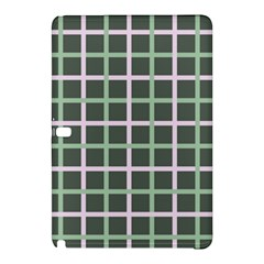 Pink And Green Tiles On Dark Green Samsung Galaxy Tab Pro 12 2 Hardshell Case by Jojostore