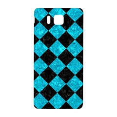 Square2 Black Marble & Turquoise Marble Samsung Galaxy Alpha Hardshell Back Case by trendistuff
