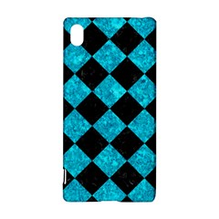 Square2 Black Marble & Turquoise Marble Sony Xperia Z3+ Hardshell Case by trendistuff