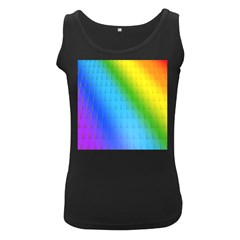 Rainbow Color Orange Yellow Green Purple Women s Black Tank Top by Jojostore