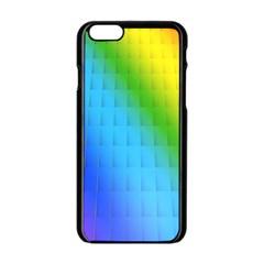 Rainbow Color Orange Yellow Green Purple Apple Iphone 6/6s Black Enamel Case by Jojostore