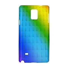 Rainbow Color Orange Yellow Green Purple Samsung Galaxy Note 4 Hardshell Case by Jojostore