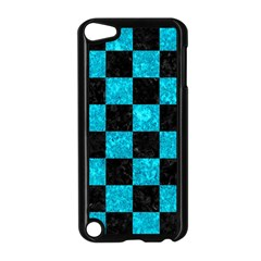 Square1 Black Marble & Turquoise Marble Apple Ipod Touch 5 Case (black) by trendistuff
