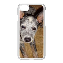 Australian Cattle Dog Blue Puppy Apple iPhone 7 Seamless Case (White) by TailWags