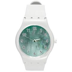 Background Texture Structure Round Plastic Sport Watch (m)