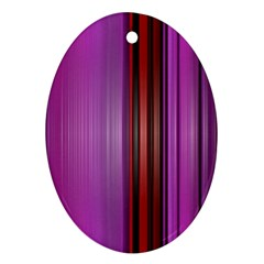 Purple Line Rainbow Ornament (oval)  by Jojostore