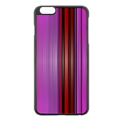 Purple Line Rainbow Apple Iphone 6 Plus/6s Plus Black Enamel Case