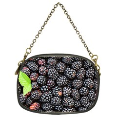 Blackberries Background Black Dark Chain Purses (one Side)  by Amaryn4rt