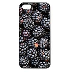 Blackberries Background Black Dark Apple Iphone 5 Seamless Case (black) by Amaryn4rt