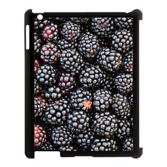 Blackberries Background Black Dark Apple Ipad 3/4 Case (black)