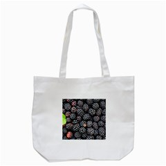 Blackberries Background Black Dark Tote Bag (white) by Amaryn4rt