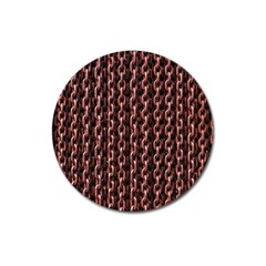 Chain Rusty Links Iron Metal Rust Magnet 3  (round) by Amaryn4rt