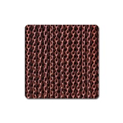 Chain Rusty Links Iron Metal Rust Square Magnet by Amaryn4rt