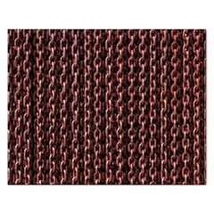 Chain Rusty Links Iron Metal Rust Rectangular Jigsaw Puzzl by Amaryn4rt