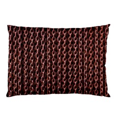 Chain Rusty Links Iron Metal Rust Pillow Case by Amaryn4rt