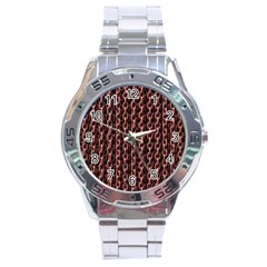 Chain Rusty Links Iron Metal Rust Stainless Steel Analogue Watch by Amaryn4rt