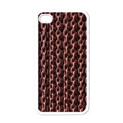 Chain Rusty Links Iron Metal Rust Apple Iphone 4 Case (white) by Amaryn4rt