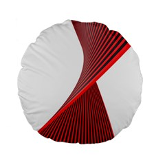 Red Black White Standard 15  Premium Round Cushions by Jojostore