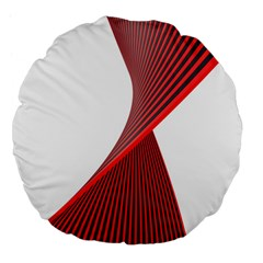 Red Black White Large 18  Premium Flano Round Cushions by Jojostore
