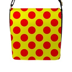 Red Circle Yellow Flap Messenger Bag (l)  by Jojostore