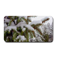 Brad Snow Winter White Green Medium Bar Mats by Amaryn4rt