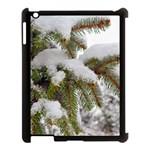 Brad Snow Winter White Green Apple iPad 3/4 Case (Black) Front