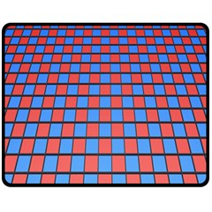 Red Blue Fleece Blanket (medium)  by Jojostore