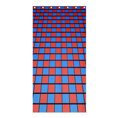 Red Blue Shower Curtain 36  X 72  (stall)  by Jojostore