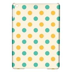 Round Blue Yellow Ipad Air Hardshell Cases by Jojostore