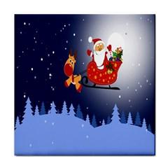 Santa Clause Tile Coasters