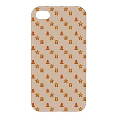 Christmas Wrapping Paper Apple Iphone 4/4s Hardshell Case by Amaryn4rt