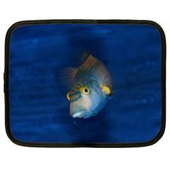 Fish Blue Animal Water Nature Netbook Case (xxl)  by Amaryn4rt
