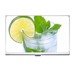 Cold Drink Lime Drink Cocktail Business Card Holders by Amaryn4rt