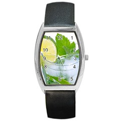 Cold Drink Lime Drink Cocktail Barrel Style Metal Watch by Amaryn4rt