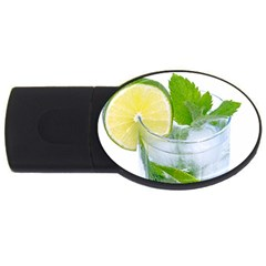 Cold Drink Lime Drink Cocktail Usb Flash Drive Oval (4 Gb)  by Amaryn4rt