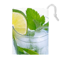 Cold Drink Lime Drink Cocktail Drawstring Pouches (extra Large) by Amaryn4rt