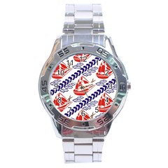 Sailing Boat Stainless Steel Analogue Watch by Jojostore