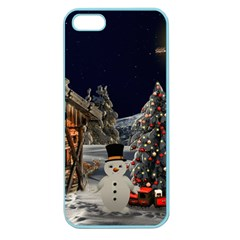 Christmas Landscape Apple Seamless Iphone 5 Case (color) by Amaryn4rt
