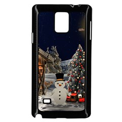 Christmas Landscape Samsung Galaxy Note 4 Case (black) by Amaryn4rt