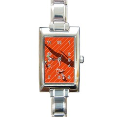 Shadow Rectangle Italian Charm Watch by Jojostore