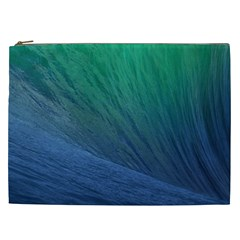 Sea Wave Water Blue Cosmetic Bag (xxl)  by Jojostore