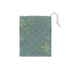 Shadow Flower Drawstring Pouches (small)  by Jojostore