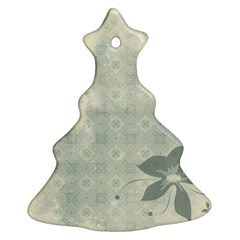 Shadow Flower Gray Christmas Tree Ornament (2 Sides) by Jojostore