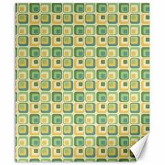 Square Green Yellow Canvas 20  X 24   by Jojostore